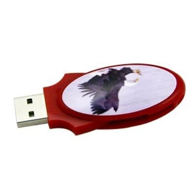 Oval Large Swivel  Egg Style USB Thumb Drives Silk Imprint 1GB - 32GB USB 2.0 U133/SY018