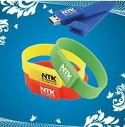 Boys USB Wristband Flash Drive / Memoria USB Stick With Encryption