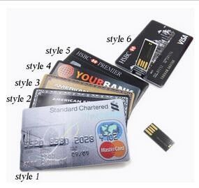 Laser Engrave Credit Card USB Drive 2 Gig Magicgate Memory Stick
