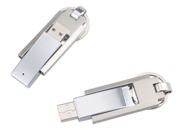 Metal Swivel USB Thumb Drives Custom Laser Logo with Data Preload