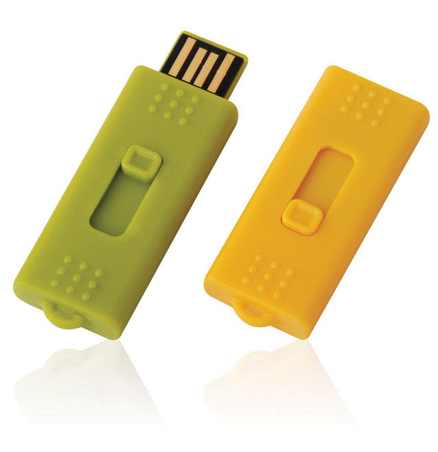 Plastic Mini USB Flash Disk / Mini Usb Flash Drive 128gb 256gb Yellow Green Color