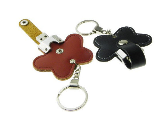 4gb 8gb 16gb Leather USB Stick / Leather Pen Drive Black Red Blue Customized