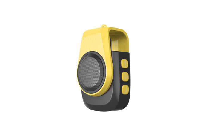 Rechargeable Portable Speaker With Usb Port And Bluetooth Yellow Color